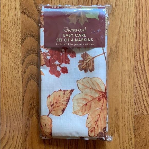 bardwil Other - Bardwil Linens napkins  GLENWOOD Cloth, Set of 4